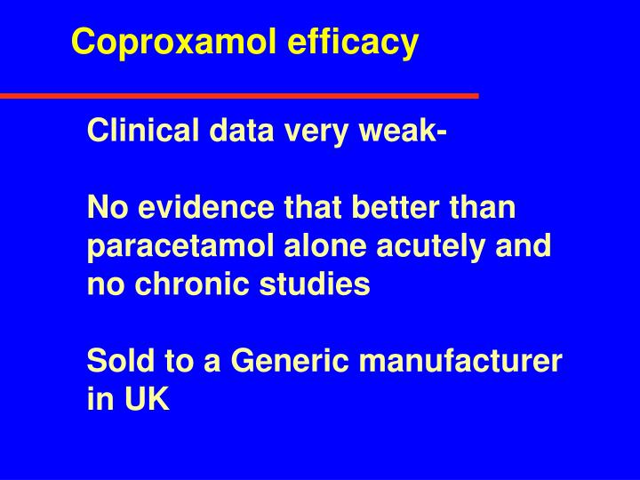 Coproxamol efficacy