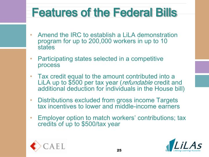 Features of the Federal Bills