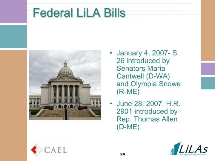 Federal LiLA Bills