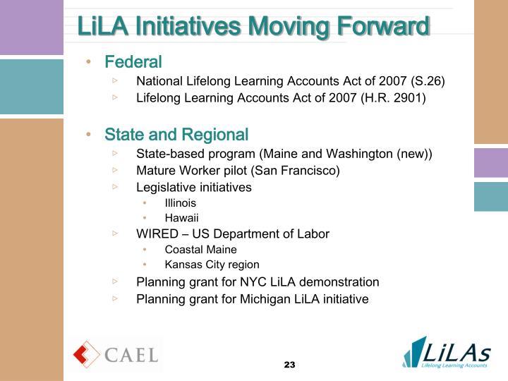 LiLA Initiatives Moving Forward