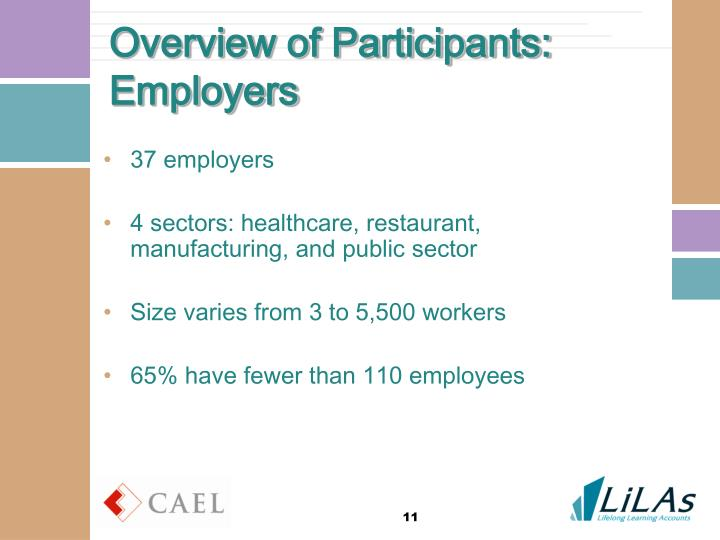 Overview of Participants: Employers