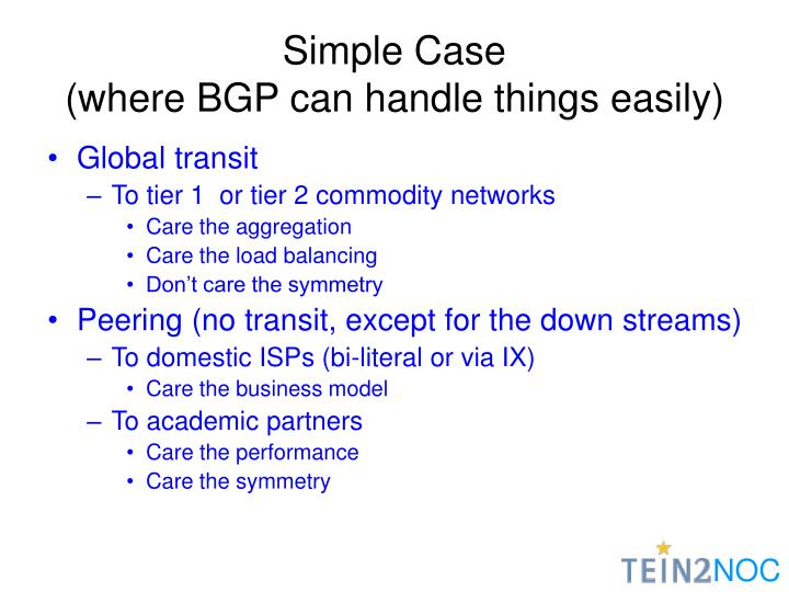 Simple case where bgp can handle things easily