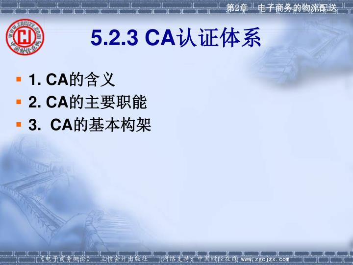 5.2.3 CA