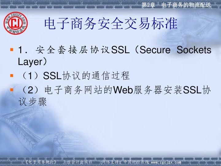 电子商务安全交易标准