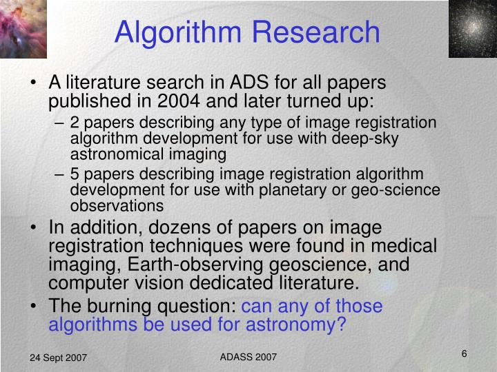 Algorithm Research