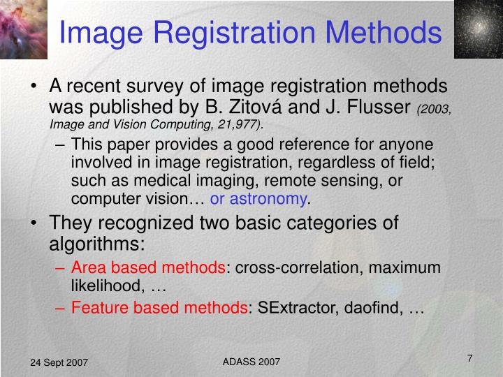 Image Registration Methods