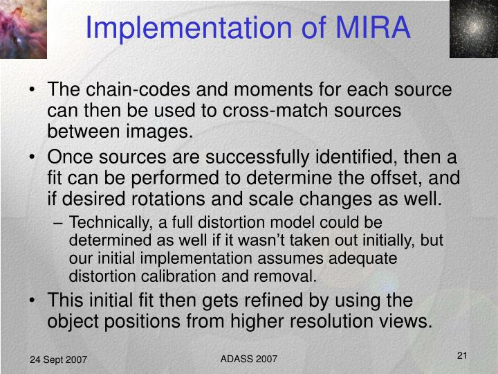 Implementation of MIRA