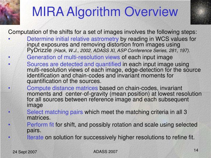 MIRA Algorithm Overview