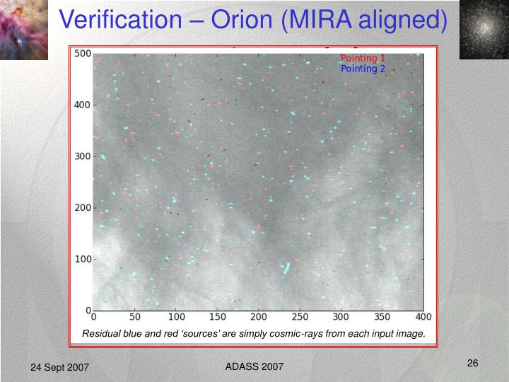 Verification – Orion (MIRA aligned)