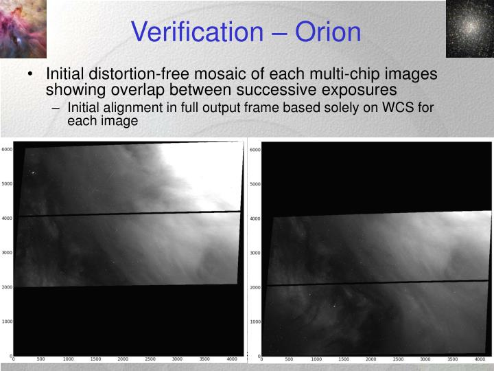 Verification – Orion