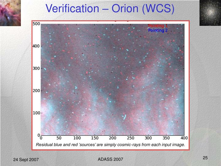Verification – Orion (WCS)