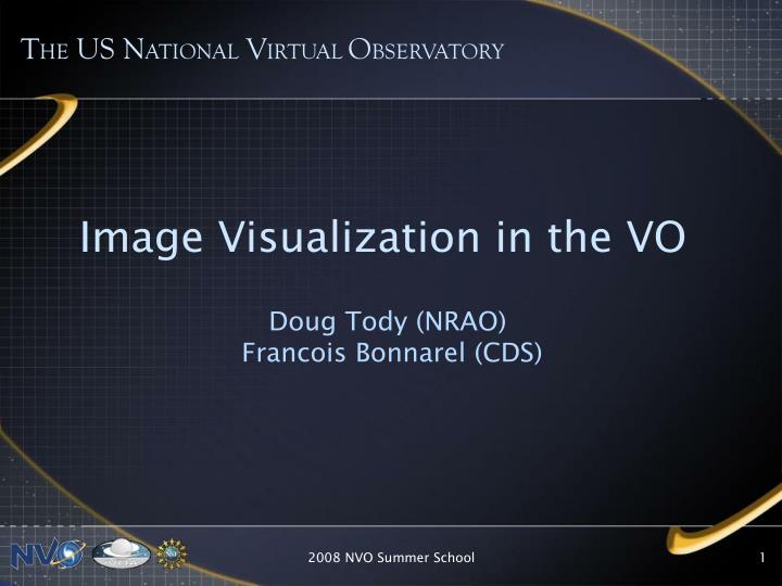 Image visualization in the vo