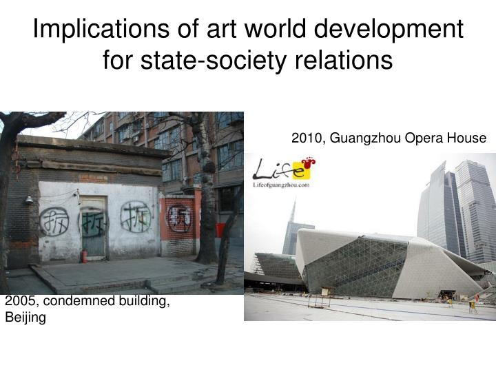 Implications of art world development