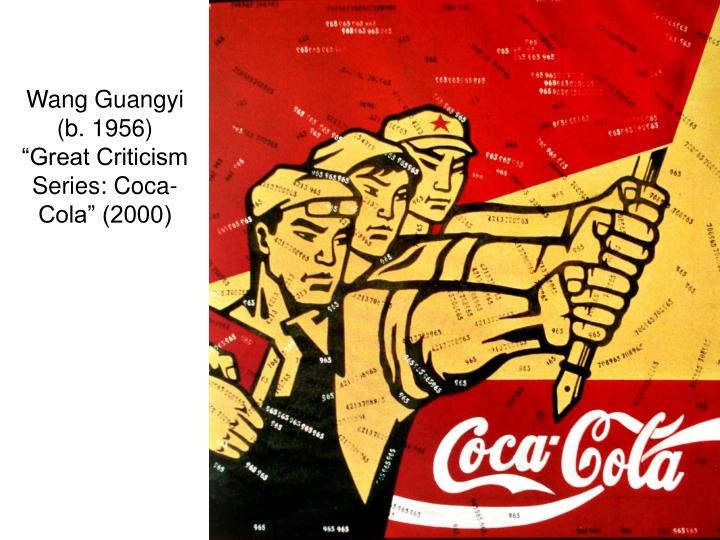 Wang guangyi b 1956 great criticism series coca cola 2000