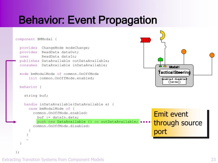 Behavior: Event Propagation