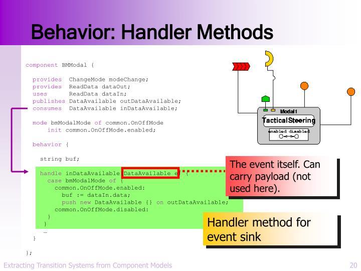 Behavior: Handler Methods