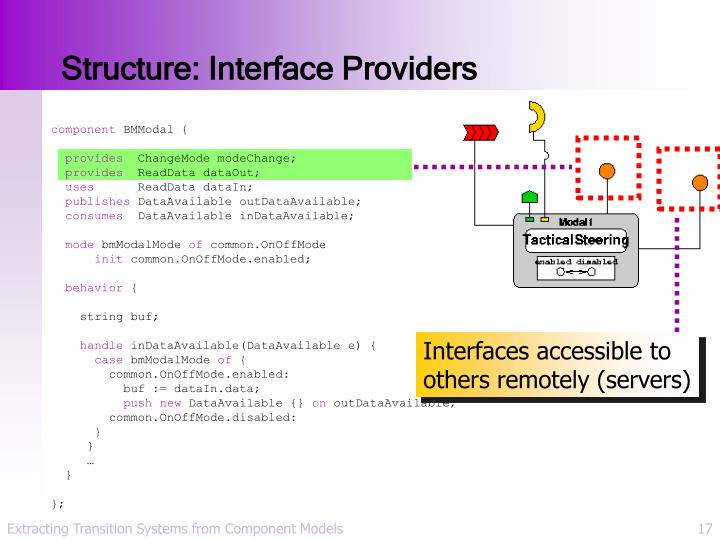 Structure: Interface Providers