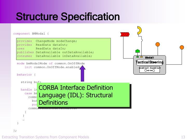 Structure Specification