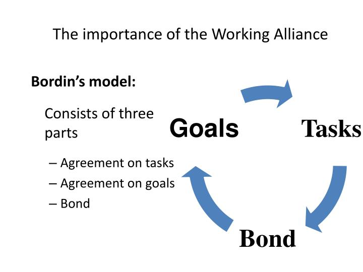 The importance of the Working Alliance