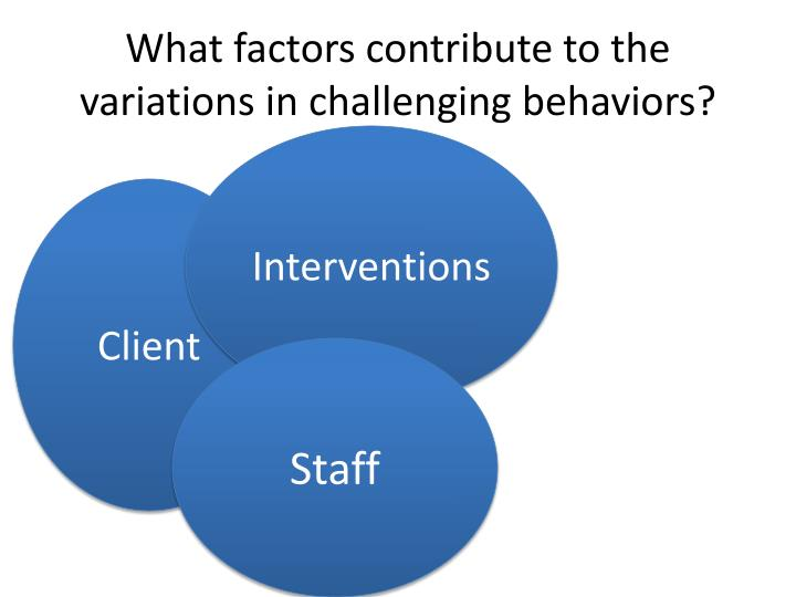 What factors contribute to the variations in challenging behaviors?