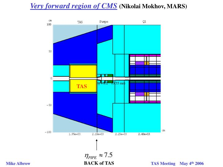 Very forward region of CMS