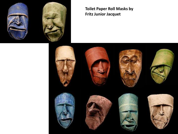 Toilet Paper Roll Masks by