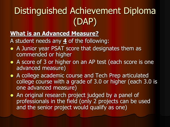 Distinguished Achievement Diploma (DAP)