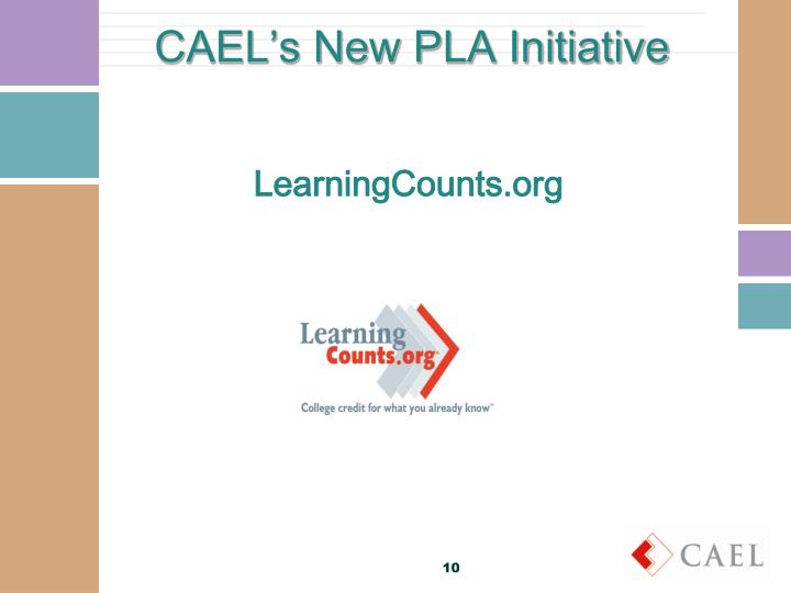 CAEL's New PLA Initiative