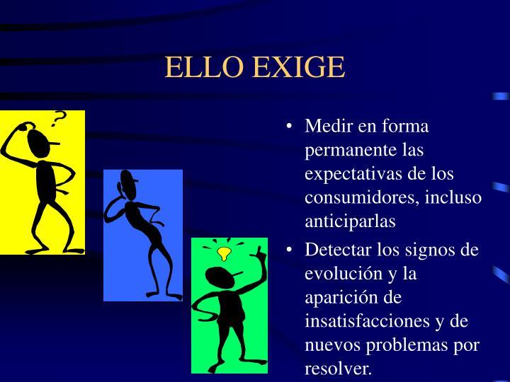 ELLO EXIGE