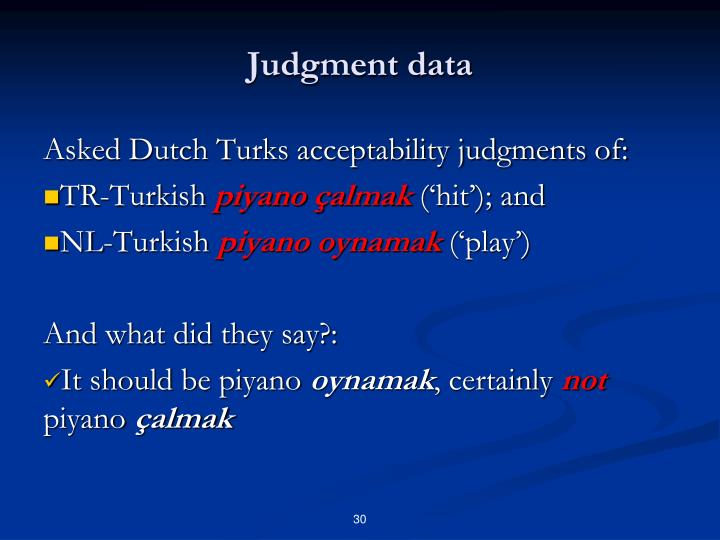 Judgment data