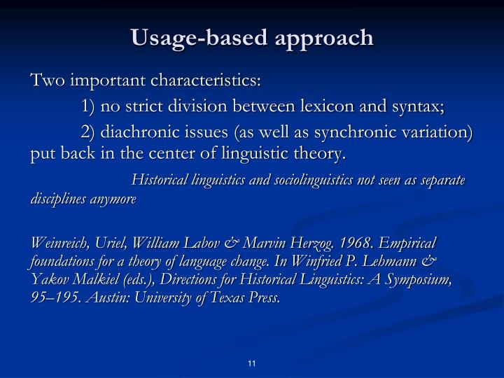 Usage-based approach