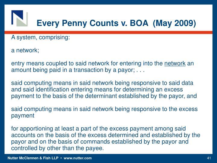 Every Penny Counts v. BOA  (May 2009)