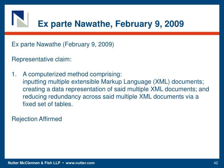 Ex parte Nawathe, February 9, 2009