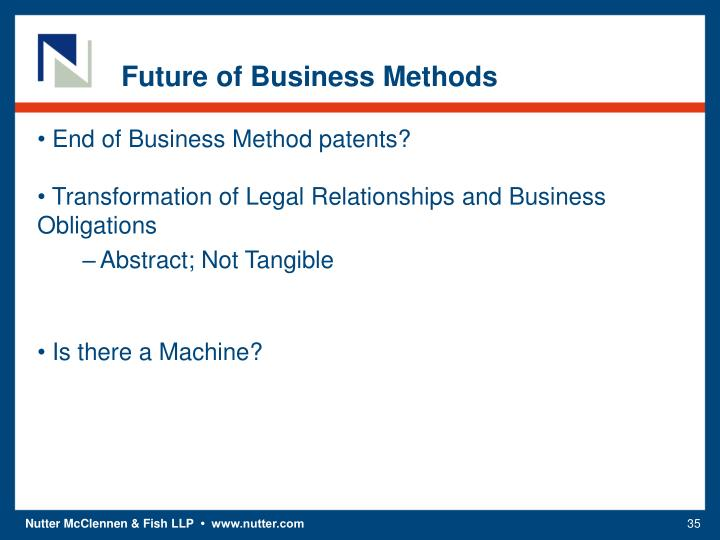 Future of Business Methods