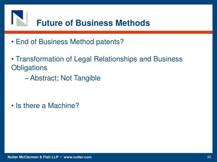 Future of Business Methods