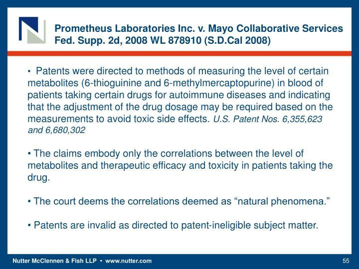 Prometheus Laboratories Inc. v. Mayo Collaborative Services
