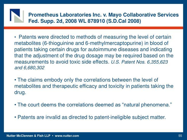 Prometheus Laboratories Inc. v. Mayo Collaborative Services