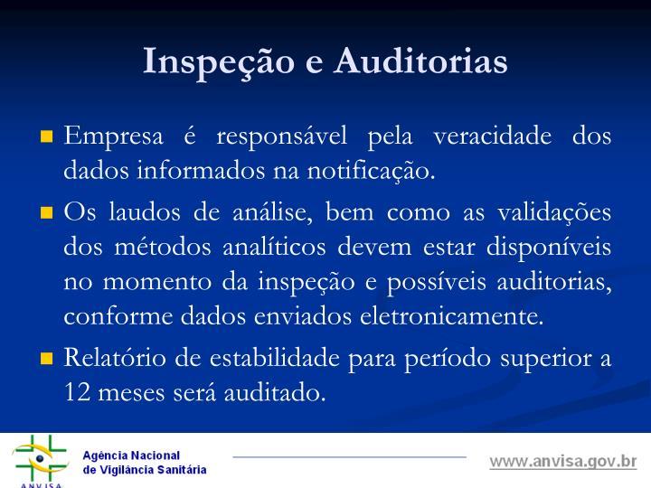 Inspeção e Auditorias