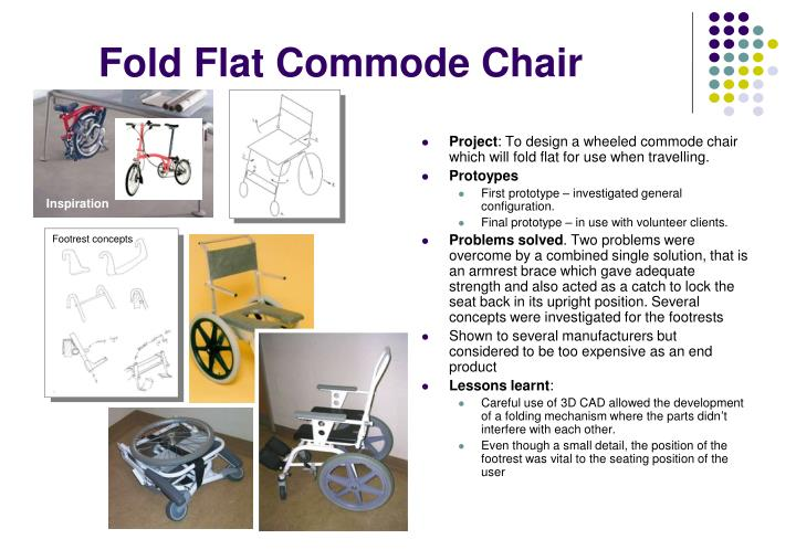 Fold Flat Commode Chair