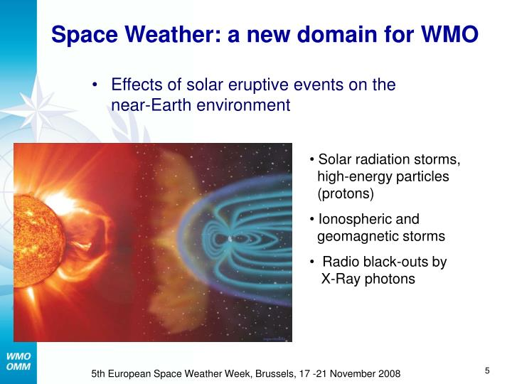 Space Weather: a new domain for WMO