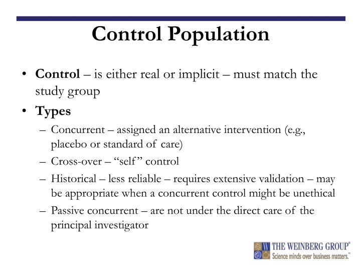 Control Population
