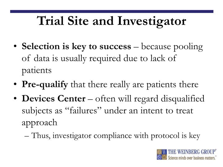 Trial Site and Investigator