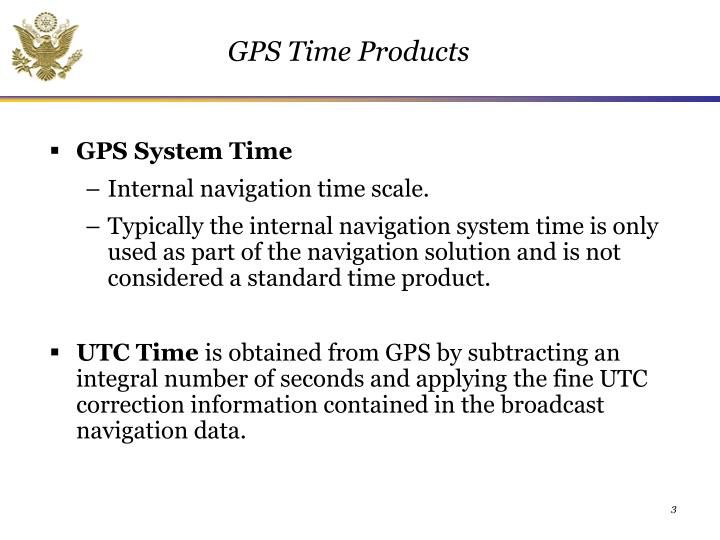 GPS Time Products