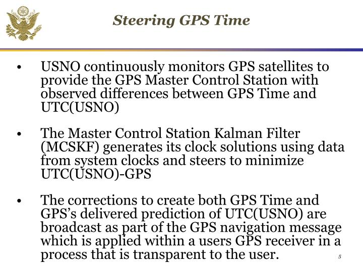 Steering GPS Time