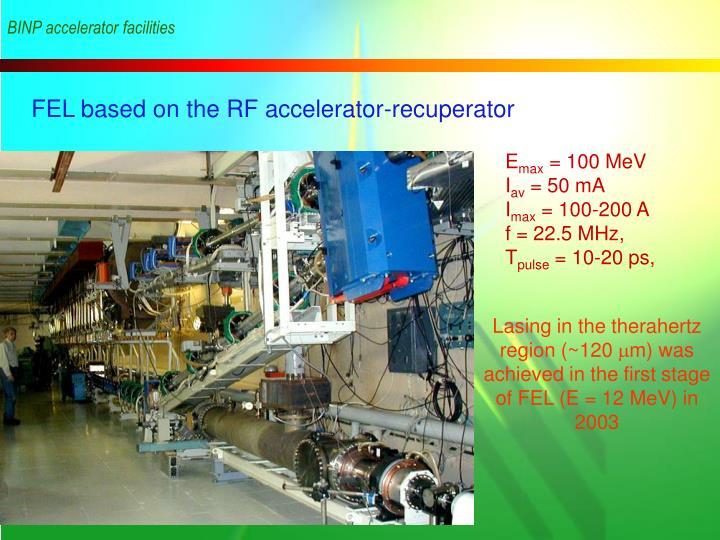 BINP accelerator facilities