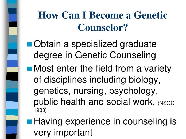 How can i become a genetic counselor
