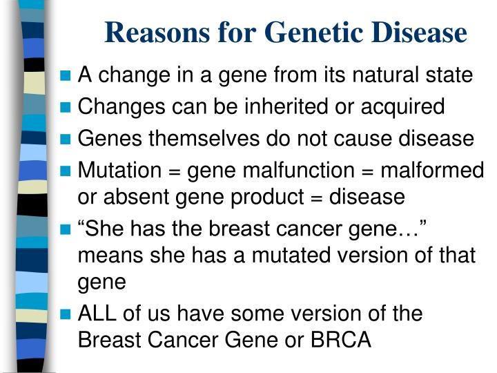 Reasons for Genetic Disease