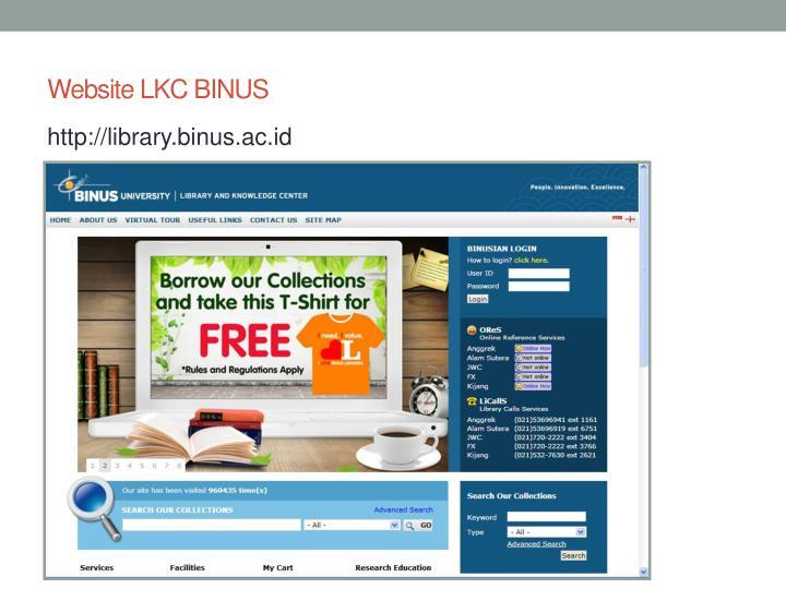 Website LKC BINUS