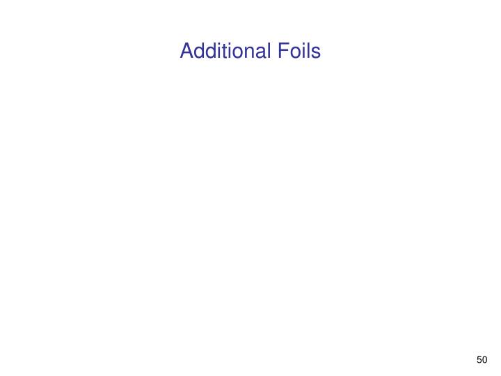 Additional Foils