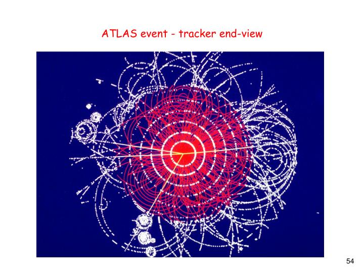 ATLAS event - tracker end-view